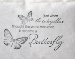 Lavender Pillow, Encouraging Quote Butterfly Pillow, Friendship Gift ...