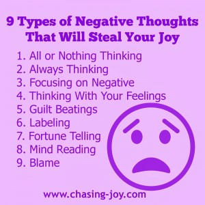 Types of Negative Thoughts That Steal Your Joy