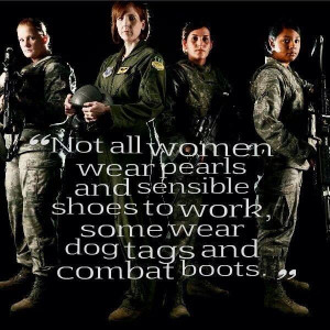 Women serve in the military too!