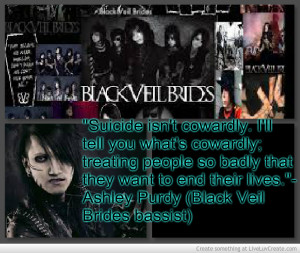 Suicide Quote By Ashley Purdy From Black Veil Brides