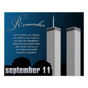 11 September 11th - WTC Remembrance Poster