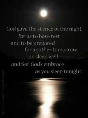 Sleep well in God's embrace
