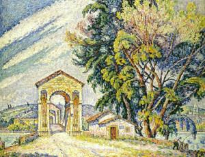 Paul SIGNAC Le Pont à Bourg Saint Andéol