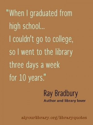 Ray Bradbury on Library.