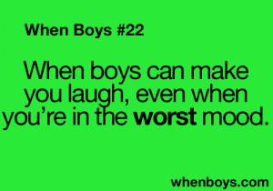 ... joke cute quotes so true laughing teen quotes relatable When Boys
