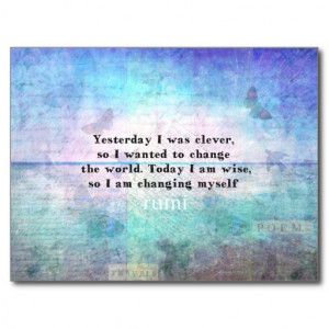 Rumi quote.Spiritual, Inspirational LOVE art Postcards