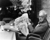 01 1984 writer saul bellow reads the sunday times people saul bellow