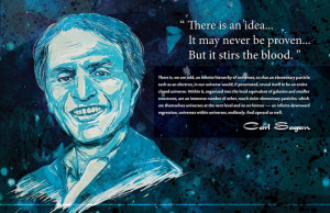 Carl Sagan Quote (Wallpaper)
