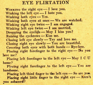 Eye Flirtation Sign Language (Speaking with your eyes) Rules for Cyber ...