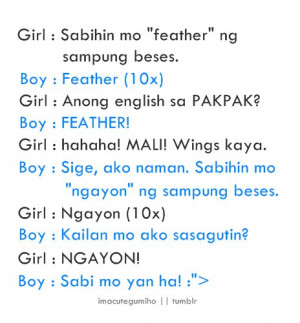 These are some of Pinoy Love Jokes Mahal Quotes Malanding Uganayan ...