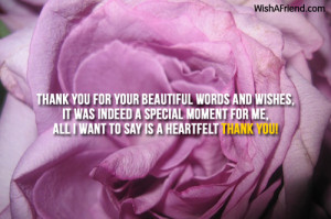 Birthday Quotes Heartfelt ~ Thank You For The Birthday Wishes
