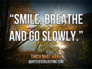 Smile, breathe and go slowly-Thich Nhat Hanh