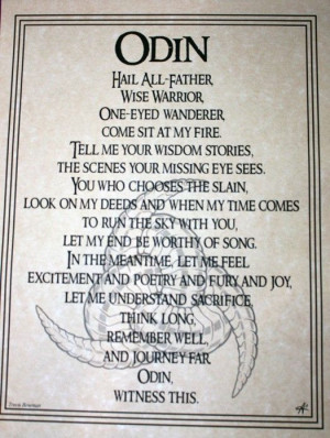 Norse God ODIN parchment Poster - Wicca, pagan, witch picclick.com
