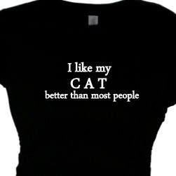 Cat Lady Funny Tee Cat Womans Funny Cat Saying T Shirts Womens Cat ...