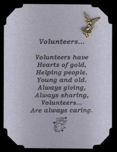 Volunteer Pin & Poem