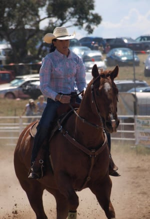 Cowgirl and her Quarter Horse by Barana