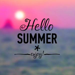 Hello summer card background hd