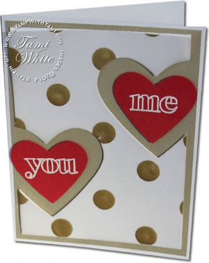 VIDEO: Valentine's Day Hearts Card from Stampin Up Countless Sayings ...