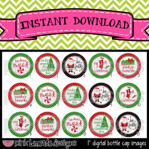 Santa's Favorite cute Christmas sayings INSTANT by PinkLimeadeD