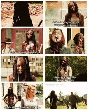The Walking Dead Quotes Carl Michonne quotes-- the walking
