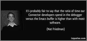 ... debugger versus the Emacs buffer is higher than with most software
