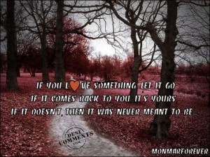 If You Love Something Let It Go, If It Comes Back to You It's Yours ...