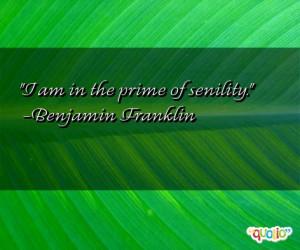 Senility Quotes