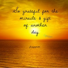 So grateful for the miracle and gift of another day. ♥ More ...