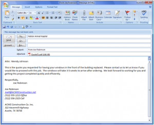 ... as pdf and attach it to an email emailing quotes has never been easier