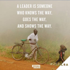 leader is someone who knows the way goes the way amp shows the way ...
