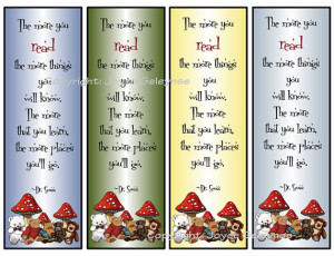 Back > Gallery For > Reading Quotes For Kids Bookmarks