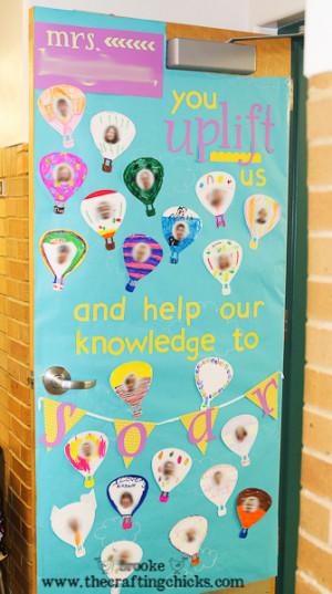Butterfly Classroom Door Decorations ~ Teacher quotes balloons quotesgram