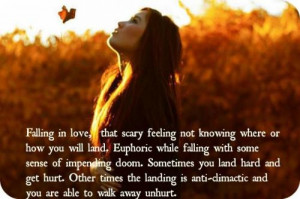 Falling in love, that scary feeling not knowing where or how you will ...