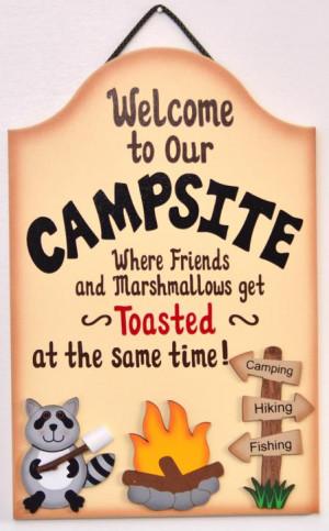 Marshmallows Camping sign
