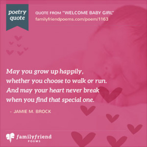 Welcome Baby Girl - Baby Quotes