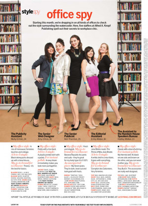 The ladies of Alfred A. Knopf were featured in the June issue (out now