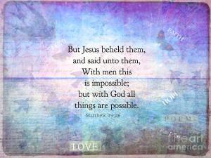 Inspirational Faith Bible Verses Digital Art