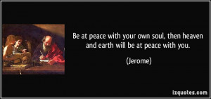 Peace Be with You Quotes