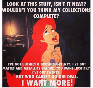 Little mermaid loves makeup
