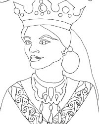 esther coloring pic