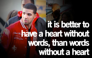 Most popular tags for this image include: Drake, heart, love and words