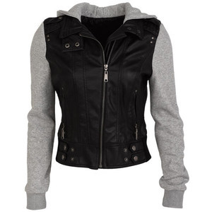 Jersey Mix Faux Leather Jacket