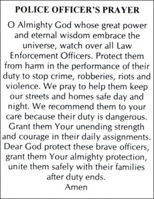 Police officer prayers Express Projects