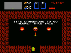 it s dangerous to go alone take this what it