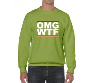 Mens Funny Sayings Slogans Jokes Sweatshirts-OMG..WTF-On Gildan Heavy ...
