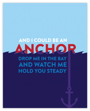 Anchor Quotes About Love Quote poster: and i could be
