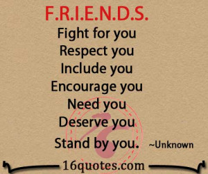 fight for you respect you include you encourage you