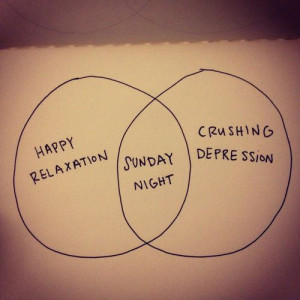 Sunday night blues happen when you have the happy Sunday afternoon ...