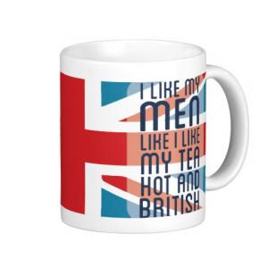 Hot & British Men & Tea Mugs