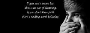 Justin Bieber quotes fb cover pic